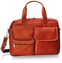 Piel Leather Multi-Pocket Carry-On, Saddle, One Size