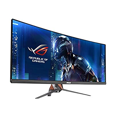 """ASUS ROG Swift Curved PG348Q Gaming Monitor - 34"""" 21:9 Ultra-wide QHD (3440x1440) with pixel density of 109 pixels..."""