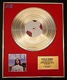 LANA DEL REY/LTD. EDITION CD GOLD DISC/RECORD/BORN TO DIE