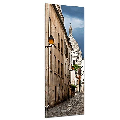bilderdepot24-immagine-su-tela-panorama-stradale-vedute-di-montmartre-parigi-francia-30x90cm-incorni