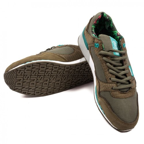 Djinns Uniform - EASY RUN #2 - Low Top Sneaker - Runner - Olive-46