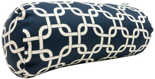 Majestic Home Goods Links Round Bolster, Navy Blue