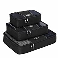 eBags Packing Cubes – 3pc Set (Black)