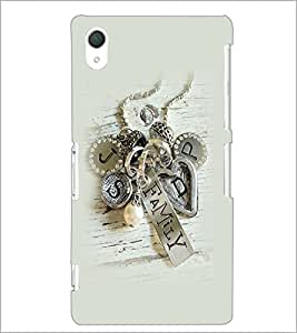 PrintDhaba Metal Design D-2265 Back Case Cover for SONY XPERIA Z2 (Multi-Coloured)