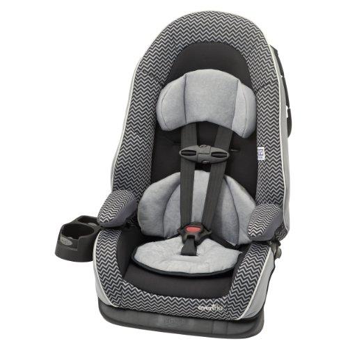 Evenflo Chase Dlx Booster Car Seat, Grey Chevron