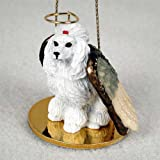 Poodle (White) Dog Angel Figurine