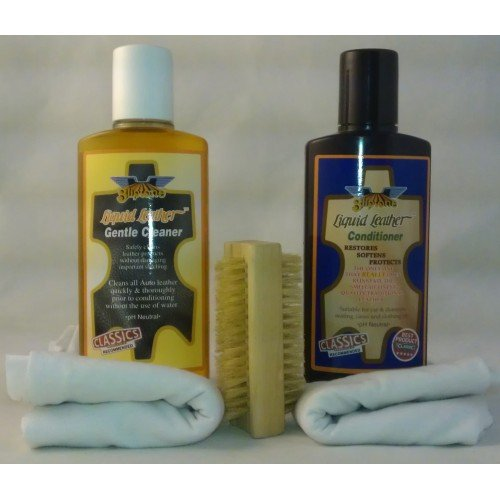 Gliptone Leather Cleaner & Conditioner 250ml Complete Car Seat Kit