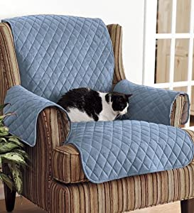 Amazon Com Polyester Pet Chair Protective Cover In Blue