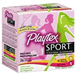 Playtex Sport Tampons, Plastic, Multi-Pack, Unscented, 36 ct.