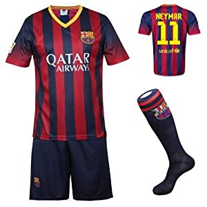 Buy 2013 2014 FC Barcelona Home Neymar #11 Football Soccer Kids Jersey with FREE Shorts & Socks Set by FCB