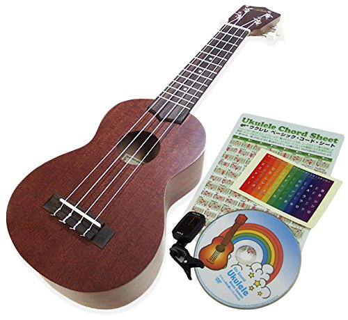 Ukulele ARIA AU-1 giapegu beginners set soft case with clip tuner DVD [SJ]