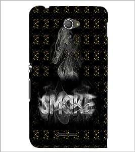 PrintDhaba Smoke D-5993 Back Case Cover for SONY XPERIA E4 (Multi-Coloured)