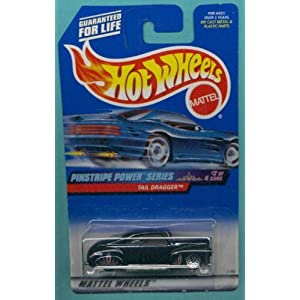 Mattel Hot Wheels 1999 1:64 Scale Pinstripe Power Series Black Tail Dragger Die Cast Car 2/4