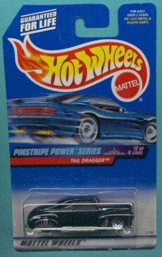 Mattel Hot Wheels 1999 1:64 Scale Pinstripe Power Series Black Tail Dragger Die Cast Car 2/4 - 1