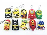 10-Despicable-Me-Minions-Yellow-Zip-Pull-Zipper-Pull-Charms-for-Jacket-Backpack-Bag