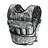 Cross101 - 20lbs Adjustable Weighted Vest Camouflage Workout Weight Vest Training Fitness