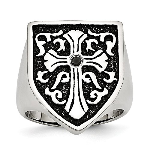 icecarats designer jewelry stainless steel cross w black. Black Bedroom Furniture Sets. Home Design Ideas