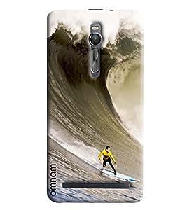 Omnam Water Skiing Printed Designer Back Cover Case For Asus Zenfone 2 550 KL