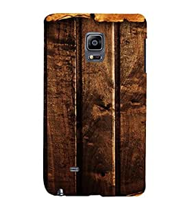 PrintVisa Dark Wooden Pattern 3D Hard Polycarbonate Designer Back Case Cover for Samsung Galaxy Note Edge