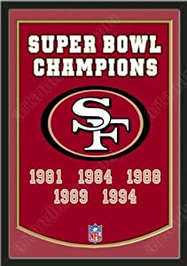 Dynasty Banner Of San Francisco 49ers With Team Color Double Matting-Framed Awesome... by Art and More, Davenport, IA