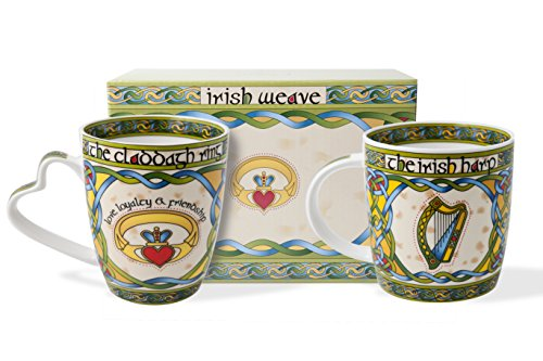 Irlandais Claddagh et Harpe Mug avec coffret cadeau...