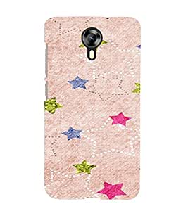 PrintVisa Star Pattern 3D Hard Polycarbonate Designer Back Case Cover for Micromax Canvas Express 2 E313