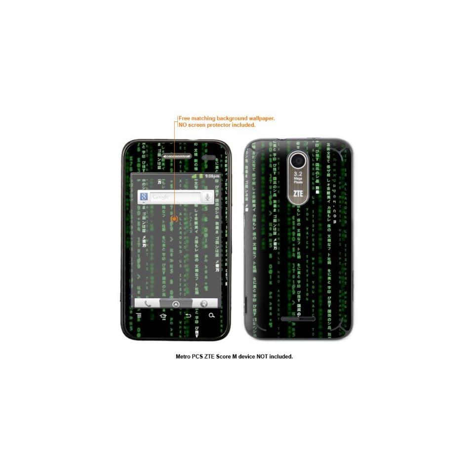 Protective Decal Skin Sticker for Metro PCS ZTE Score M case cover ZTEscoreM 605 Cell Phones & Accessories