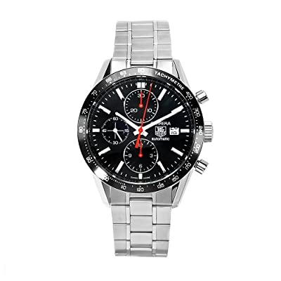 TAG Heuer Men's THCV2014BA0794 Carrera Black Guilloche Dial Watch from TAG Heuer