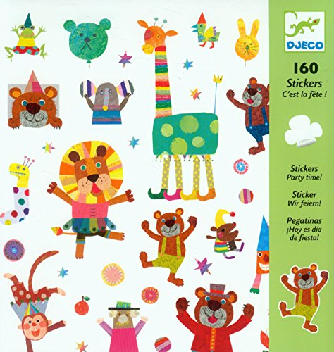 Djeco DJ08845 Stickers-Party Time Novelty