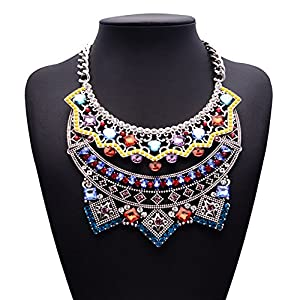 Colorful Diamond Best Mothers Day Jewelry Gift Online Jewelry Stores Party Charm Necklace(color)