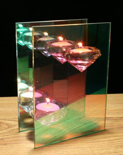 Infinity Glass Candle Holder with Two