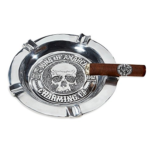 Sons of Anarchy Hand Poured Solid Pewter 5 Finger Cigar Ashtray Heavy Large Herf Charming