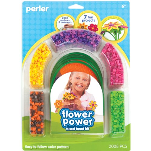 Perler Fused Bead Kit, Flower Power - 1