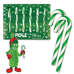 Fancy Pickle flavored Candy Canes