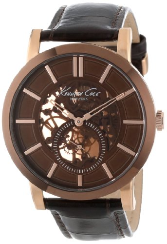 Kenneth Cole New York Men's KC1933 Classic Brown Dial Sub-Second Eye Strap Watch