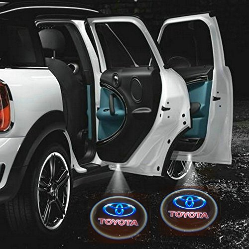 2 X 2014 Latest 6Th Gen Car Door Shadow Laser Projector Logo Led Light For Toyota All Series Land Cruiser Prado 100 120 150 200 4500 4700 Camry Corolla 4Runner Harrier Prius Hilux Highlander Crown Rav4 Tundra Yaris Eco Solara Fj Cruiser 4X4 Previa #003