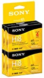 Sony Hi8 Camcorder 8mm Cassettes 120 Minute (4-Pack)