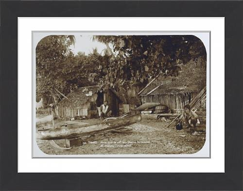 framed-print-of-a-tahitian-village-scene