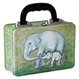 Elephant Mother and Baby Metal Lunch Box