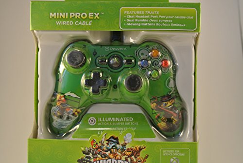 Power a Skylanders Swap Force Mini pro Ex Wired Controller, Green (Xbox 360 Skylanders Controller compare prices)