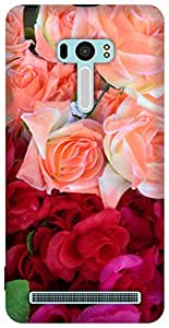 The Racoon Lean red rose bouquet hard plastic printed back case / cover for Asus Zenfone Selfie ZD551KL