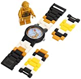 LEGO Kids' 9002960 Star Wars C3PO Plastic Watch with Link Bracelet and Figurine