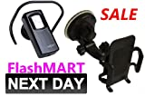 FlashMART: PREMIUM CAR HOLDER and BLUETOOTH HEADSET for NOKIA C3-01 GOLD