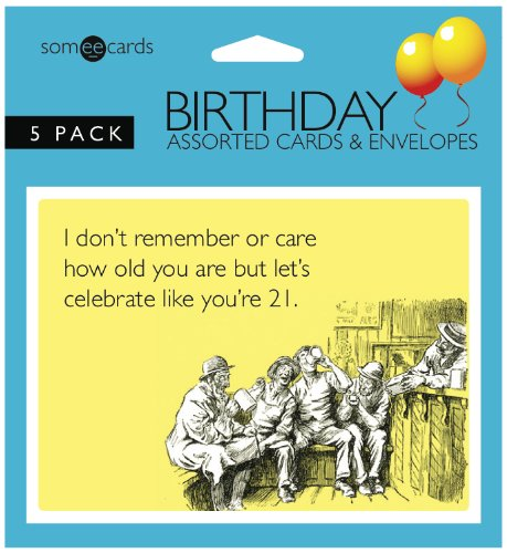 Someecards Assorted Birthday Greeting Cards -