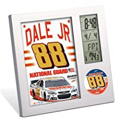 Dale Earnhardt Jr #88 Team Desk Alarm Thermometer Clock by WinCraft