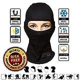 Multipurpose Unisex Balaclava Full Face Ski Mask, Black, One Size Fits Most