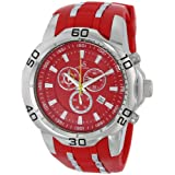 Joshua & Sons Men's JS50RD Silver-Tone Metal Watch with Red Band
