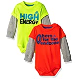 Adidas Boys' Slogan Body Shirt Set 2 Pack, Assorted, 6 Months