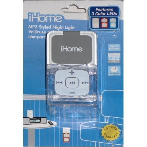 iHome MP3 Style Night Light with 3 Color LEDs