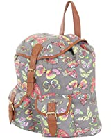More4bagz Ladies Womens Owl Fox Horse Canvas Rucksack Backpack Shoulder School College Gym Bag W Faux Leather Trim